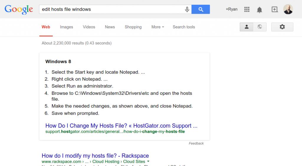 google-hosts